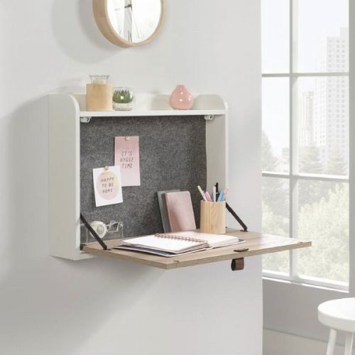 Avon Leather Handled Wall Desk